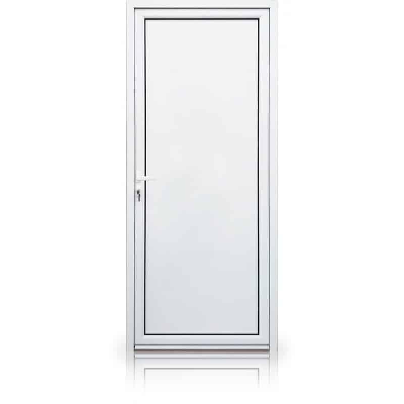 Porte de service en aluminium sur mesure 1