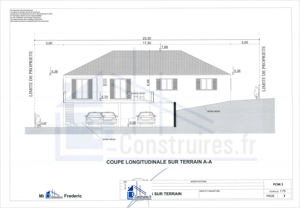 plan de coupe maison martinique972