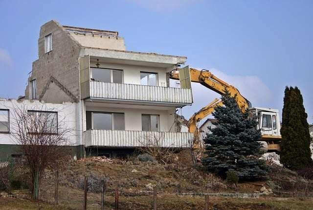 le coût d'une démolition