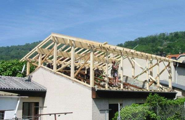 rehaussement d'une toiture