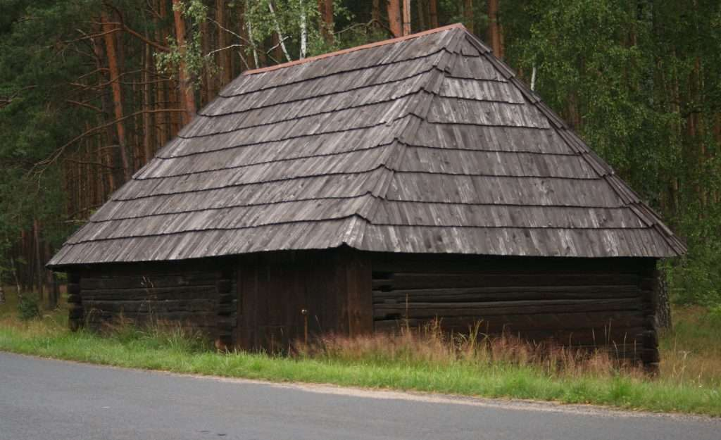 la couverture de toit en bois