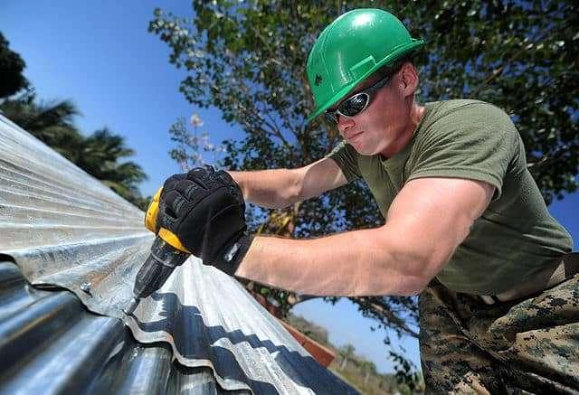 une rénovation de toiture