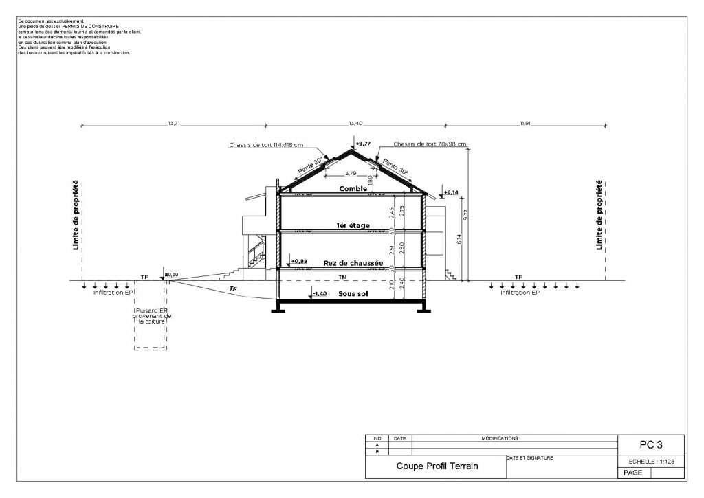 Permis de construire pour une maison individuelle